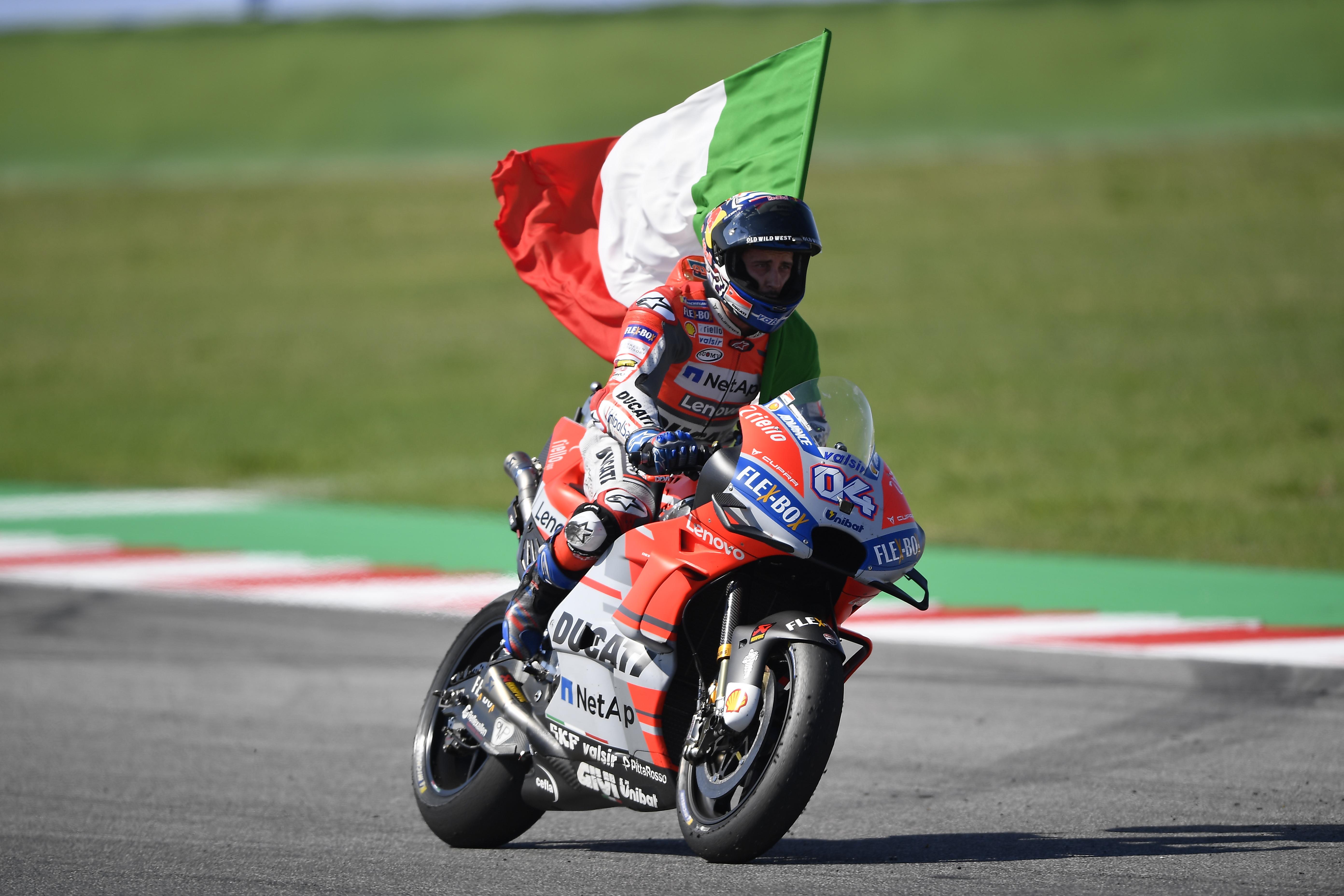 Andrea Dovizioso wins the San Marino Grand Prix. Image courtesy of Ducati 4cd7da52f